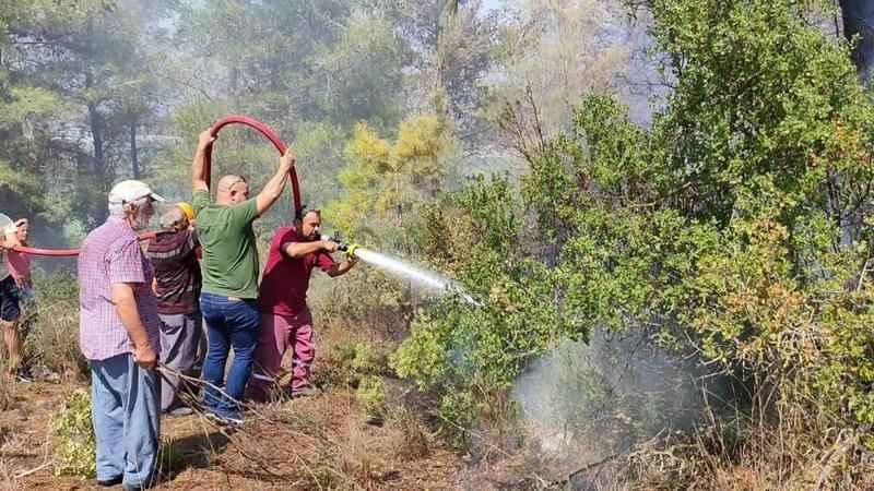 Manavgat'taki mezarlık yangını korkuttu