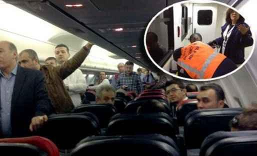 Alanya GZP uçağında panik dolu anlar!