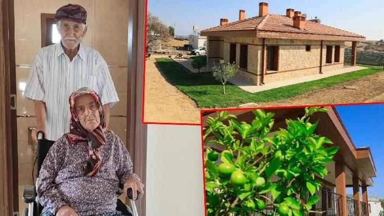 Manavgat'taki yangında kül olmuştu! Ölümden dönen çift yeni evlerine kavuştu