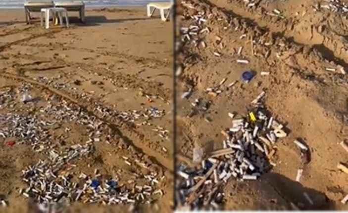 Alanya'nın ünlü plajı izmarit çöplüğüne döndü!