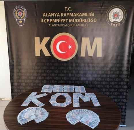 Alanya'da piyasaya sahte para sürüleceğini öğrenen polis harekete geçti! Tam 30 bin TL