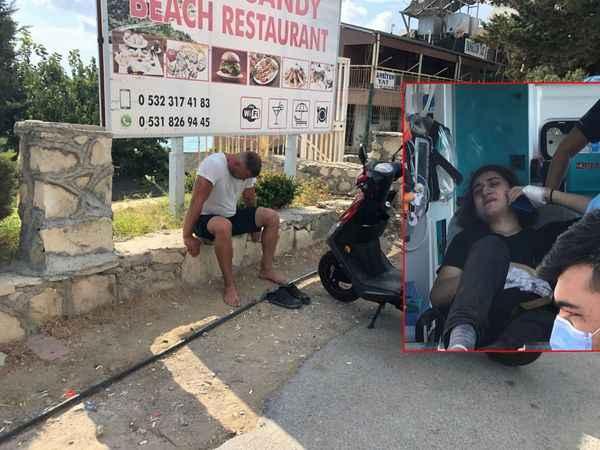 Alanya'da korkutan kaza! Patenli genç acı içinde kıvrandı