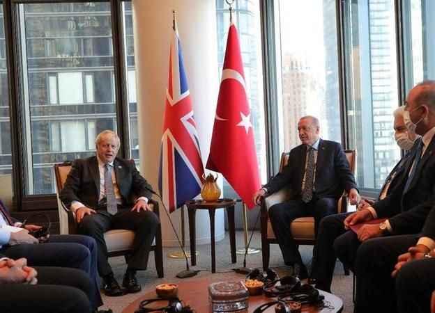 Cumhurbaşkanı Erdoğan, İngiltere Başbakanı Johnson'la görüştü