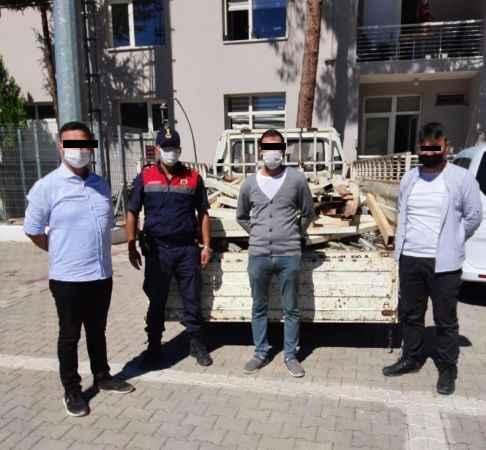 Antalya'da 50 bin TL değerindeki sera demirlerini çalmışlardı! Kıskıvrak yakalandılar