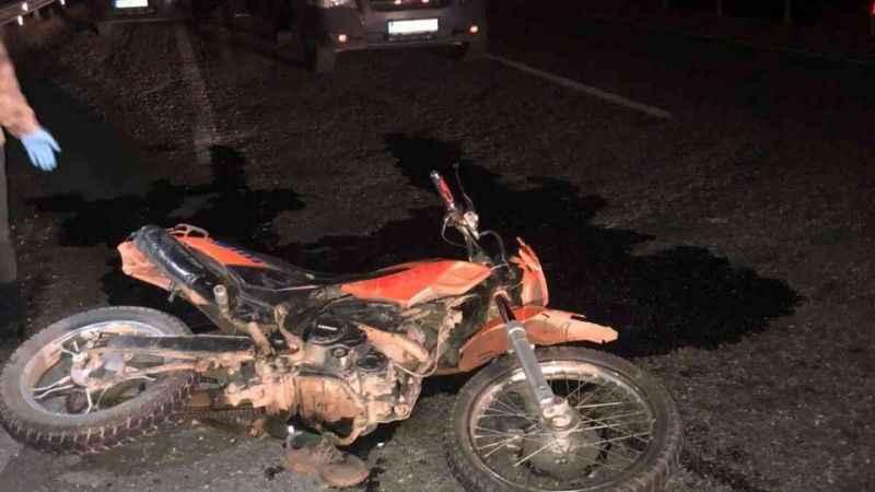 Korkunç motosiklet kazası! 1 kişi hayatını kaybetti.