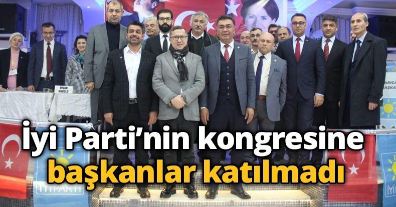 İyi Parti'nin kongresine  başkanlar katılmadı