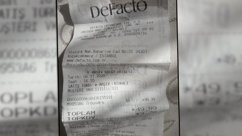Defacto parası ödenen ürünü teslim etmiyor