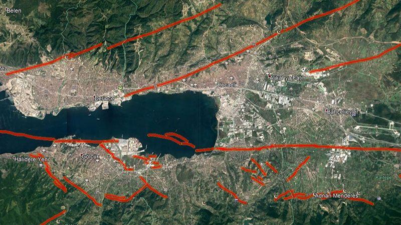 """İşte Kocaeli'nin """"Fay"""" haritası"""