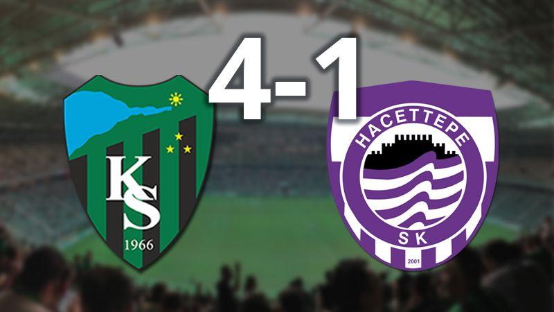 Kocaelispor 4-1 kazandı