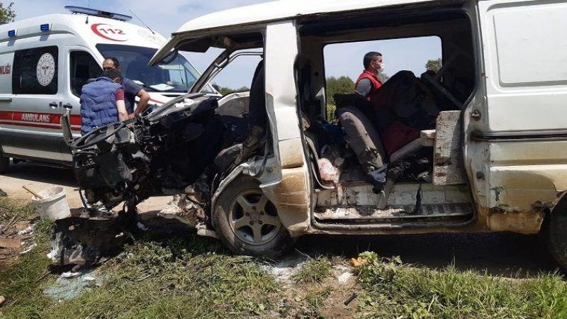 İşçi minibüsü kaza yaptı: 5 yaralı