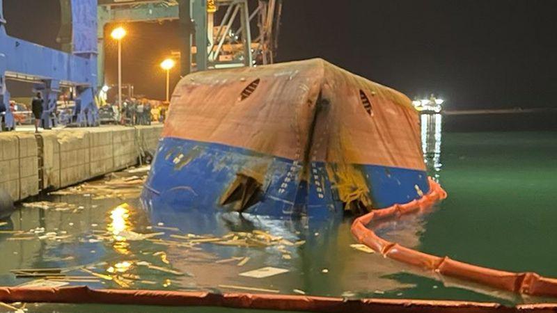 Alabora olan gemi, yükünü Körfez'den almış