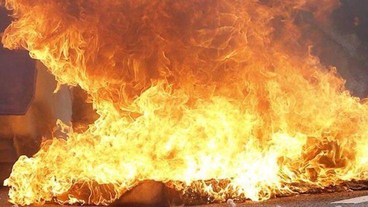 Darıca'da tekne yangını