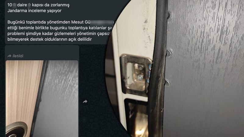 Lüks sitede tornavidayla kapılar zorlanıyor