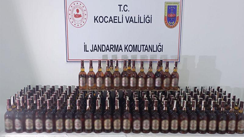 190 şişe sahte bandrollü viski yakalandı