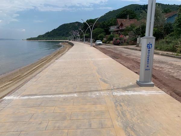 Ereğli sahiline beton yol