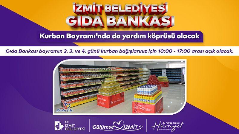 Kurban Bayramı için Gıda Bankası