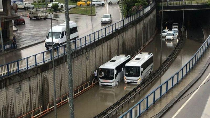 Gebze bölgesinde su baskınları