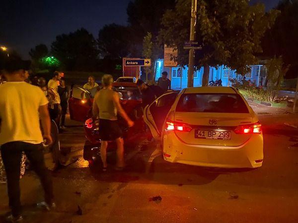 Yahya Kaptan'da feci kaza