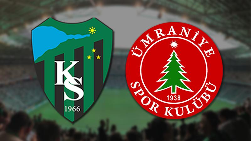 Kocaelispor-Ümraniye maçı 16 Ağustos Pazartesi