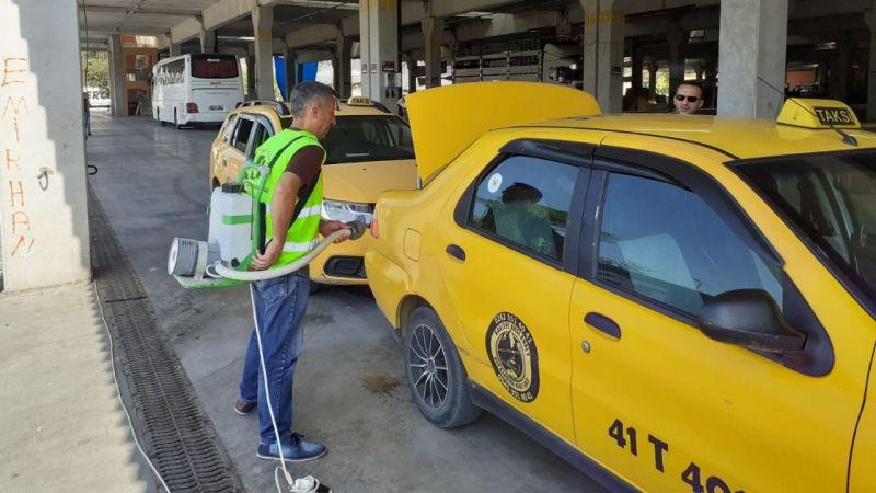 Taksiler dezenfekte ediliyor