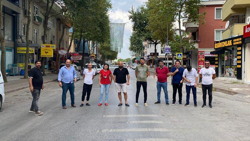 Alikahya'nın en hareketli caddesi 10 Ekim'e kadar kapalı