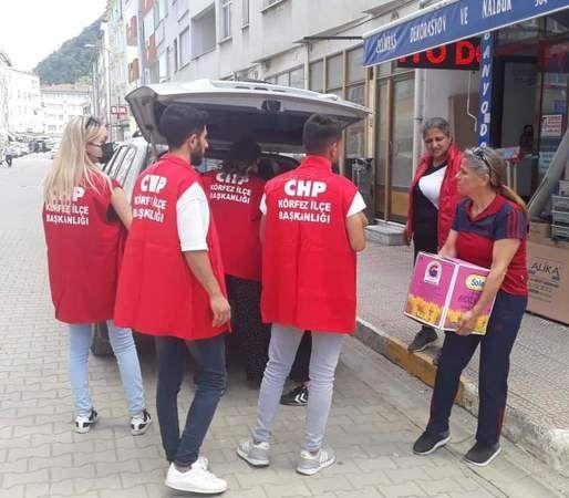 CHP Körfez yardımları Abana ve Bozkurt ilçelerine ulaştı