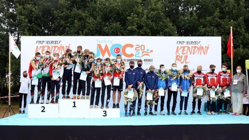 Gençler Oryantiring Şampiyonası Kocaeli'de sona erdi