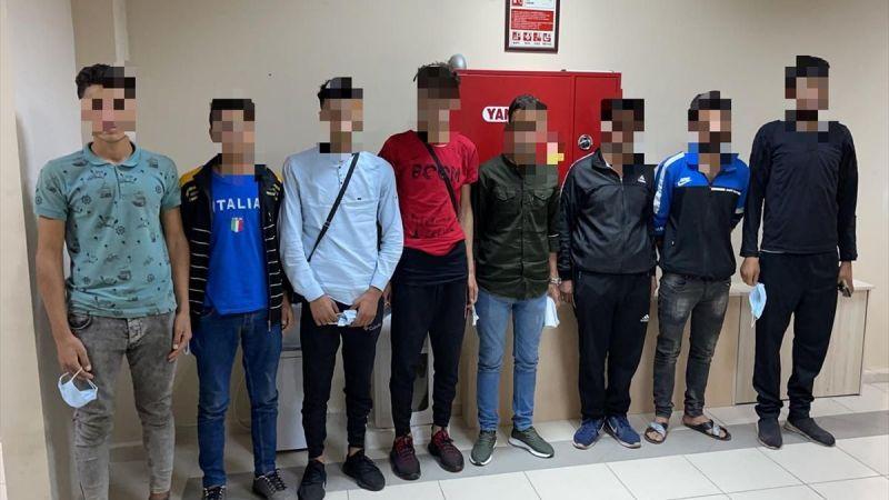 7 düzensiz göçmen yakalandı