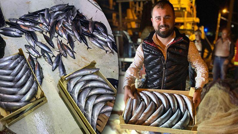 Palamut göründü, balıkçının yüzü güldü