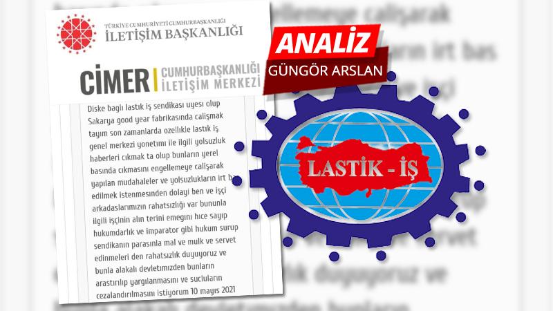 Lastik işçisi çareyi CİMER'de ARIYOR..!
