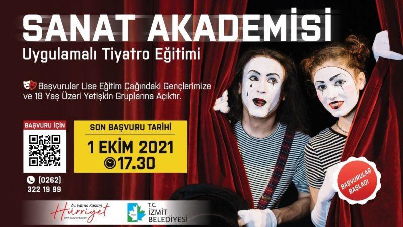 Uygulamalı Tiyatro Eğitimibaşvuruları bugün başladı
