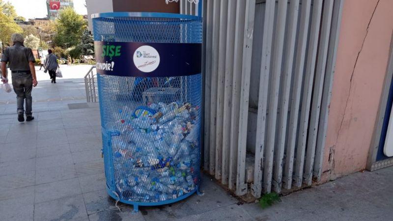 1 ton plastik şişe geri dönüşüme kazandırıldı