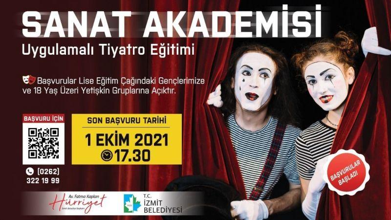 Tiyatro Eğitimibaşvurularında son gün YARIN