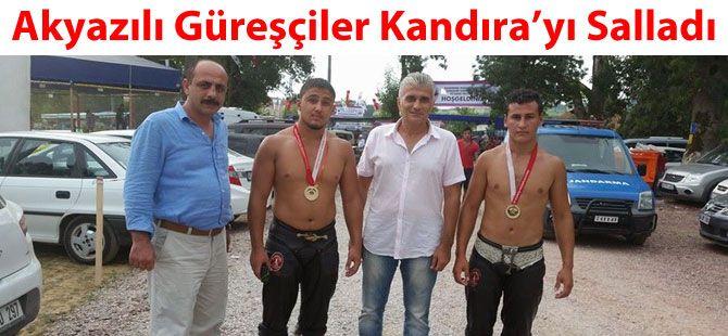 Akyazılı Güreşçilerden Kandıra'da 3 Altın