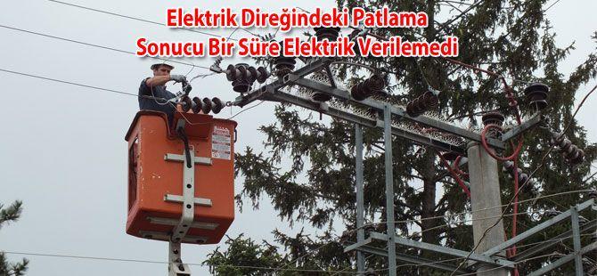 Elektrik Direğindeki Patlama Elektriksiz Bıraktı