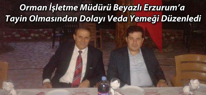 Orman işletme Müdürü Erzurum'a Tayin Oldu