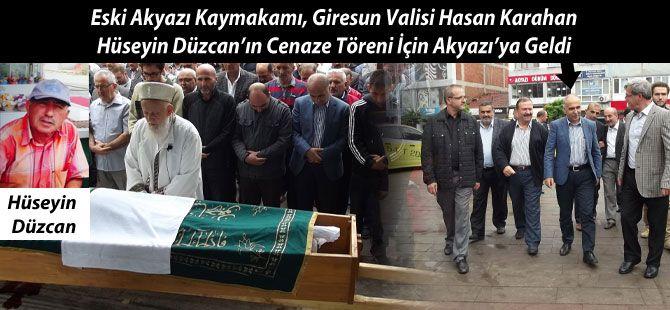 Giresun Valisi Karahan Cenaze için Akyazı'ya Geldi