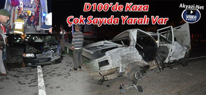 D 100'de Kaza 5 Yaralı