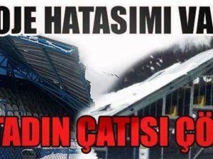 Bu kez Karaaptiler Stadı. 3.ncü tribün de çöktü!