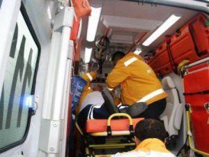 Ticari araç Buz'da kaydı 4 yaralı