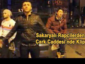 Sakaryalı Rapçiler Çark Caddesinde klip çekti
