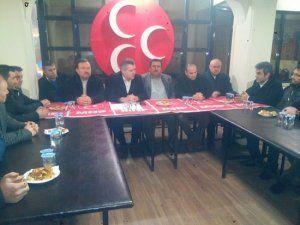 Muhtarlar Derneği MHP İlçe teşkilatını ziyaret etti..