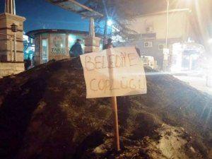 Belediyeyi böyle Protesto ettiler