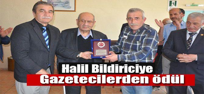 Halil Bildiriciye Gazetecilerden ödül