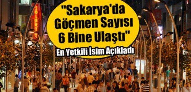 """""""Sakarya'da göçmen sayısı 6 bine ulaştı"""""""