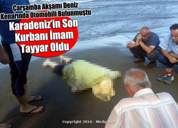 Kayıp imam kıyıdan 150 metre açıkta bulundu