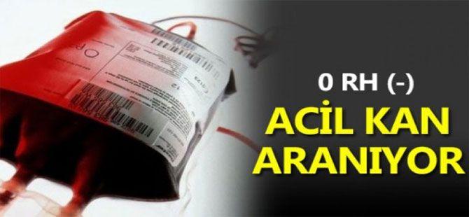 Acil Rh Negatif Kan Aranıyor