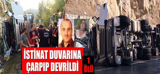 Geyve - Taraklı yolunda süt tankeri devrildi: 1 ölü