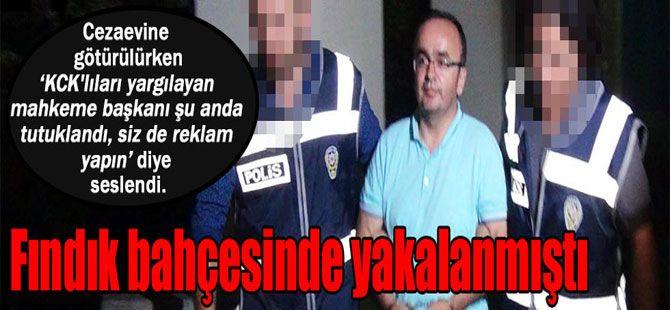 Tutuklanan KCK hakimi habercilere böyle seslendi