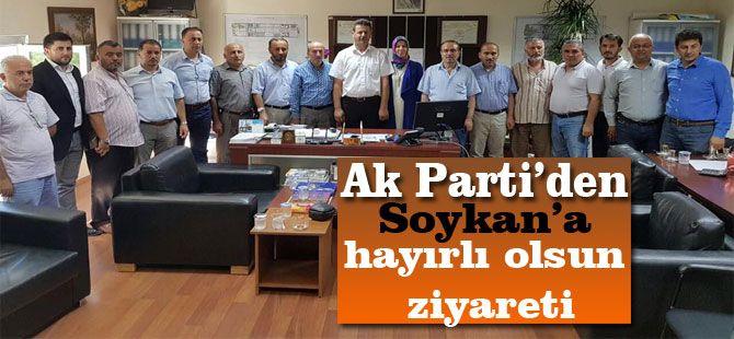 Ak Parti'den Soykan'a hayırlı olsun ziyareti.